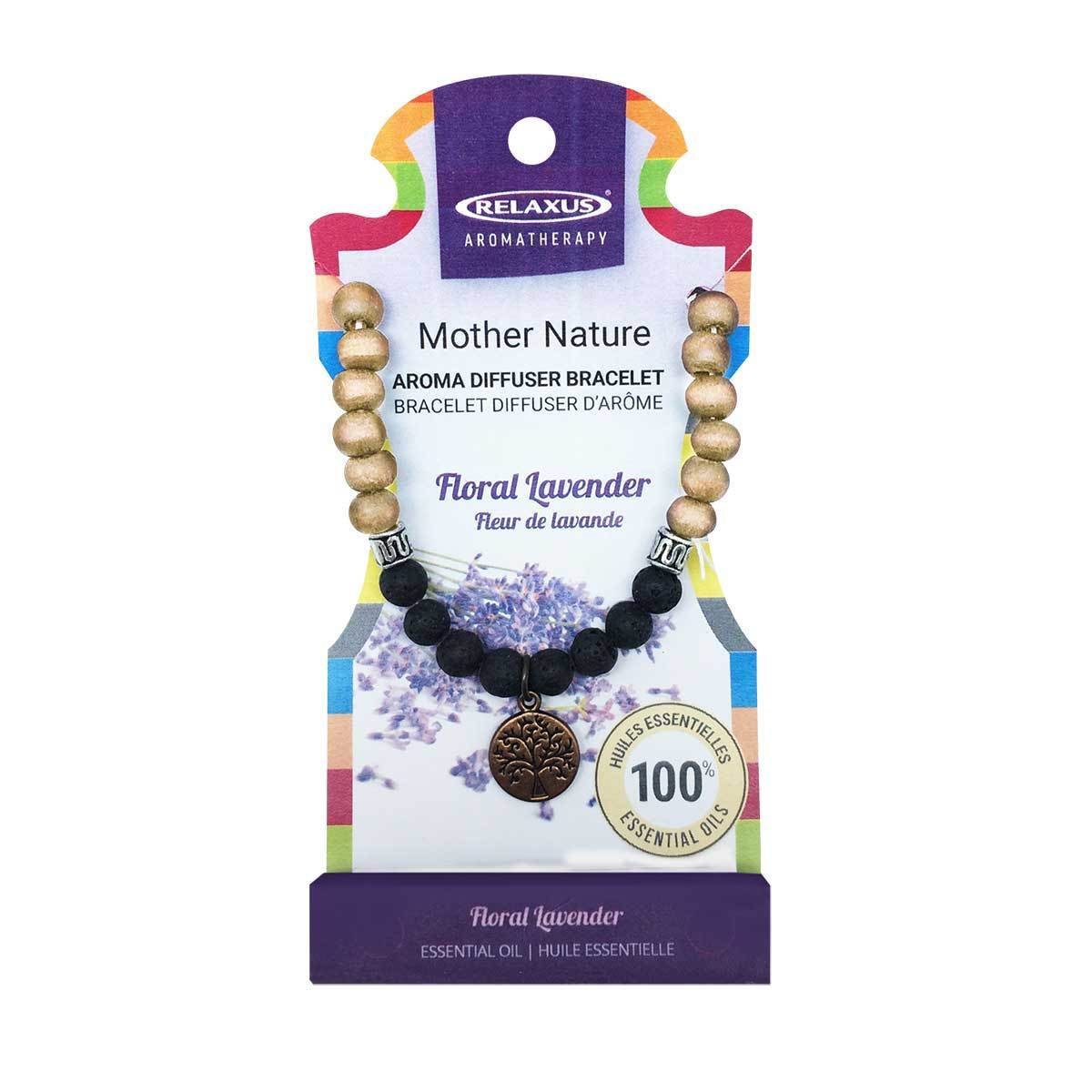 MOTHER NATURE DIFUSER BRACELET FLORAL LAVENDER