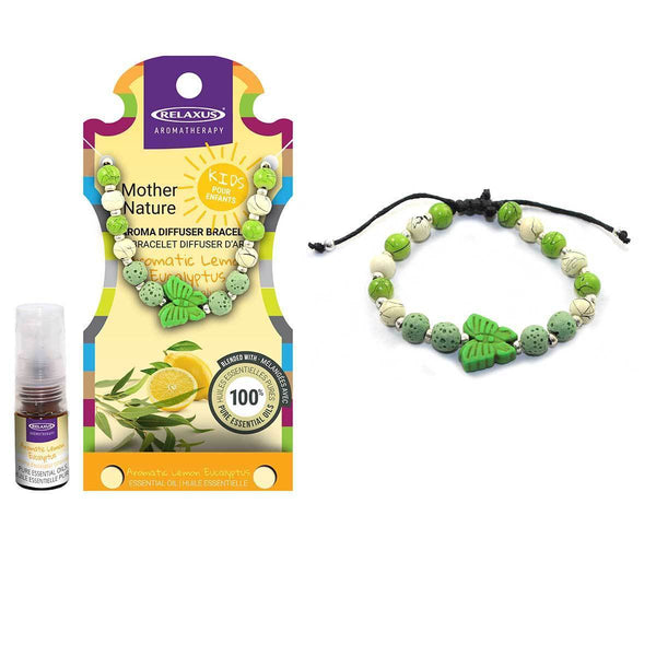 MOTHER NATURE KIDS LEMON EUCALYPTUS AROMA THERAPY BRACELET