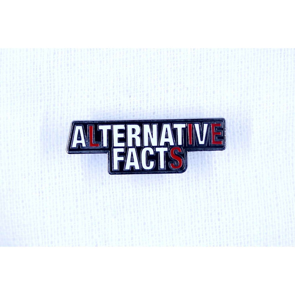ENAMEL PIN ALTERNATIVE FACTS, ACCESSORIES, Styles For Home Garden & Living, Styles For Home Garden & Living