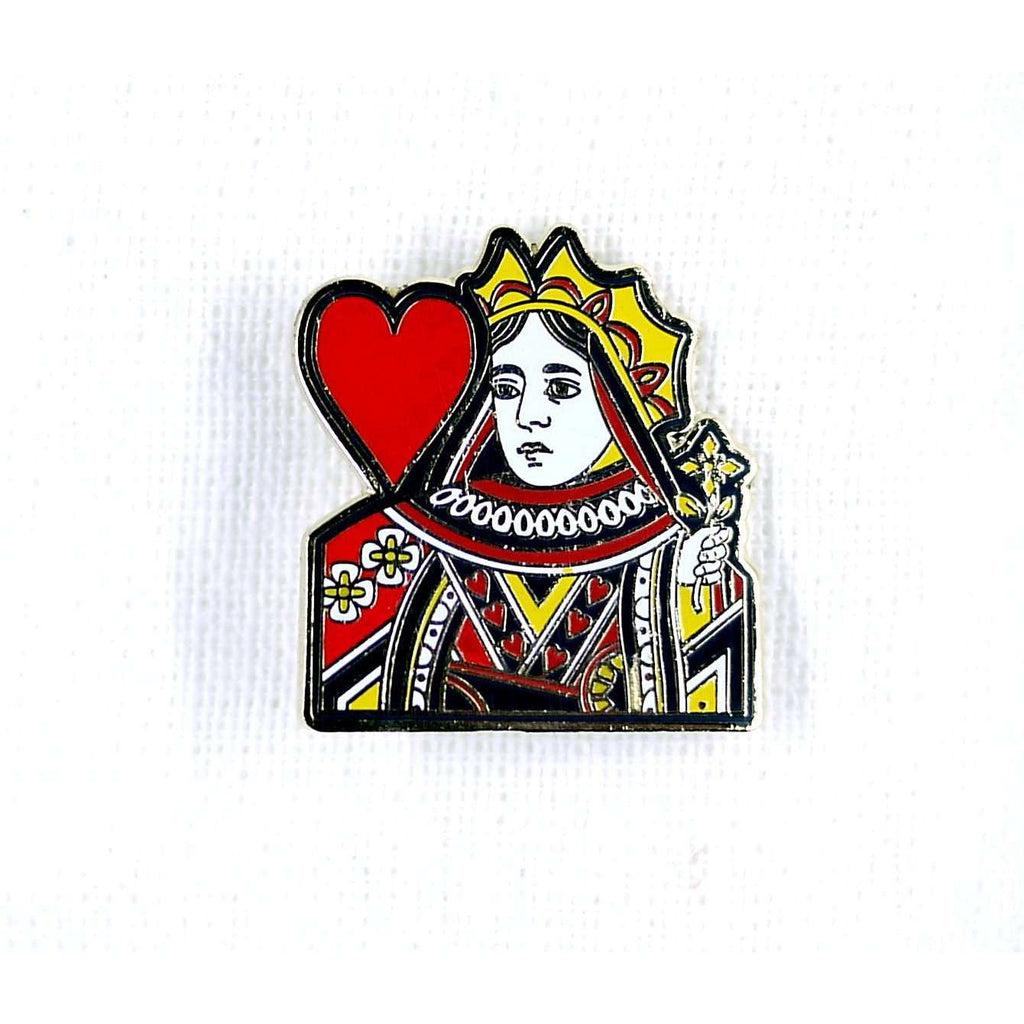 ENAMEL PIN QUEEN OF HEARTS, ACCESSORIES, Styles For Home Garden & Living, Styles For Home Garden & Living