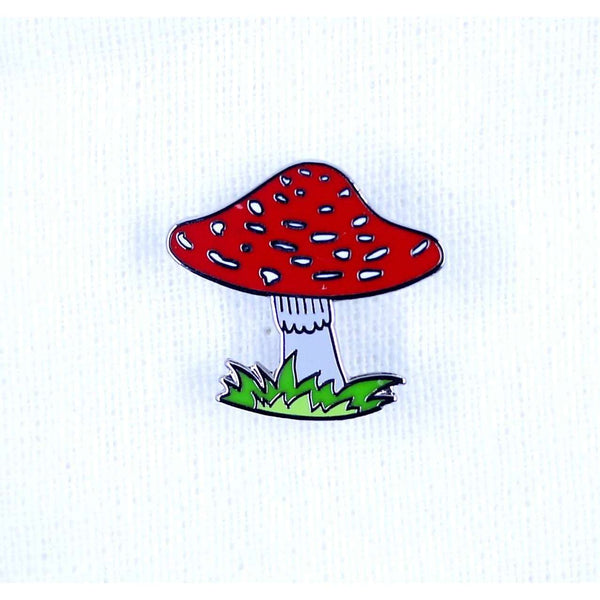 ENAMEL PIN MUSHROOM, ACCESSORIES, Styles For Home Garden & Living, Styles For Home Garden & Living