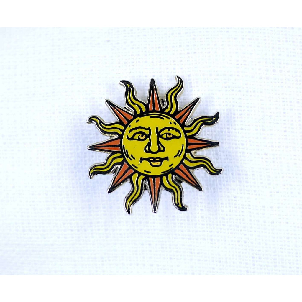 ENAMEL PIN SUN, ACCESSORIES, Styles For Home Garden & Living, Styles For Home Garden & Living