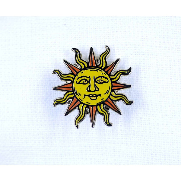 ENAMEL PIN SUN, ACCESSORIES, Styles For Home Garden & Living, Styles For Home Garden and Living