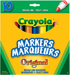 CRAYOLA MARKERS 10 PK CLASSIC