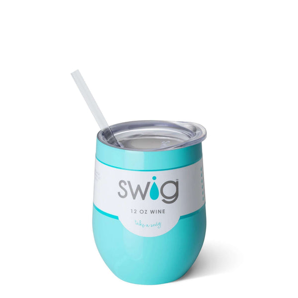 SWIG 12OZ WINE TUMBLER TURQUOISE, KITCHEN, Styles For Home Garden & Living, Styles For Home Garden and Living