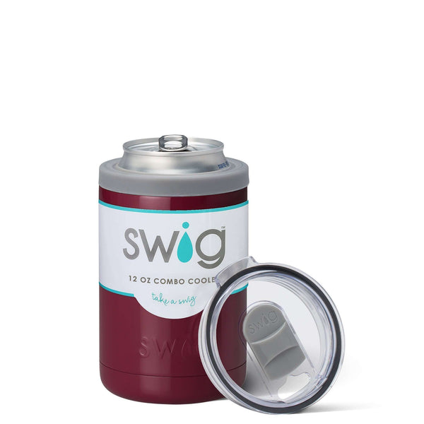 SWIG 12OZ COMBO COOLER MAROON, KITCHEN, Styles For Home Garden & Living, Styles For Home Garden and Living