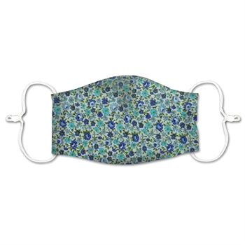 ADULT NON-MEDICAL MASK BLUE FLOWERS