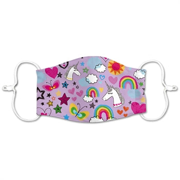 CHILDREN'S NON-MEDICAL MASK HEARTS/RAINBOWS/UNICORNS