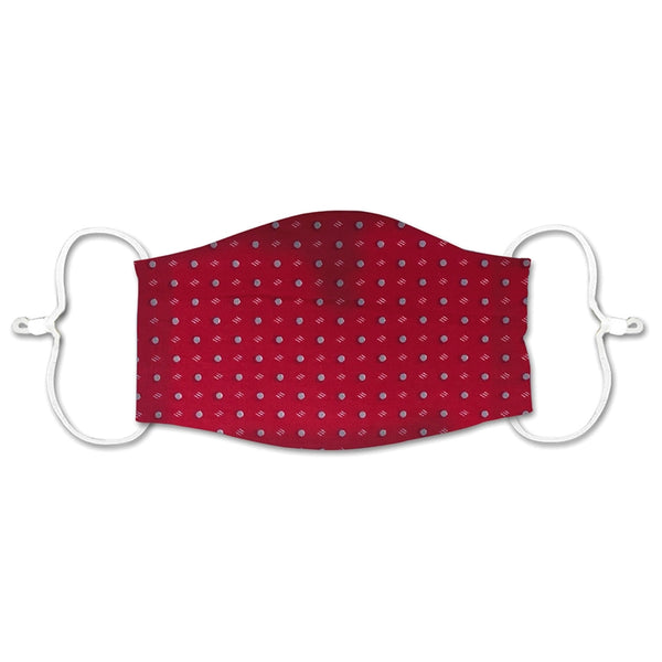 ADULT NON-MEDICAL MASK RED W/GREY DOTS