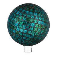 EVERGREEN MOSAIC GAZING BALL IN TURQUOISE