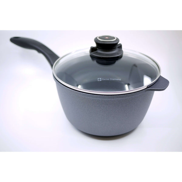 "SWISS DIAMOND 8"" SAUCE PAN WITH LID, KITCHEN, Styles For Home Garden & Living, Styles For Home Garden and Living"