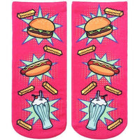 LIVING ROYAL POP ART FAST FOOD ANKLE SOCKS, ACCESSORIES, Styles For Home Garden & Living, Styles For Home Garden and Living