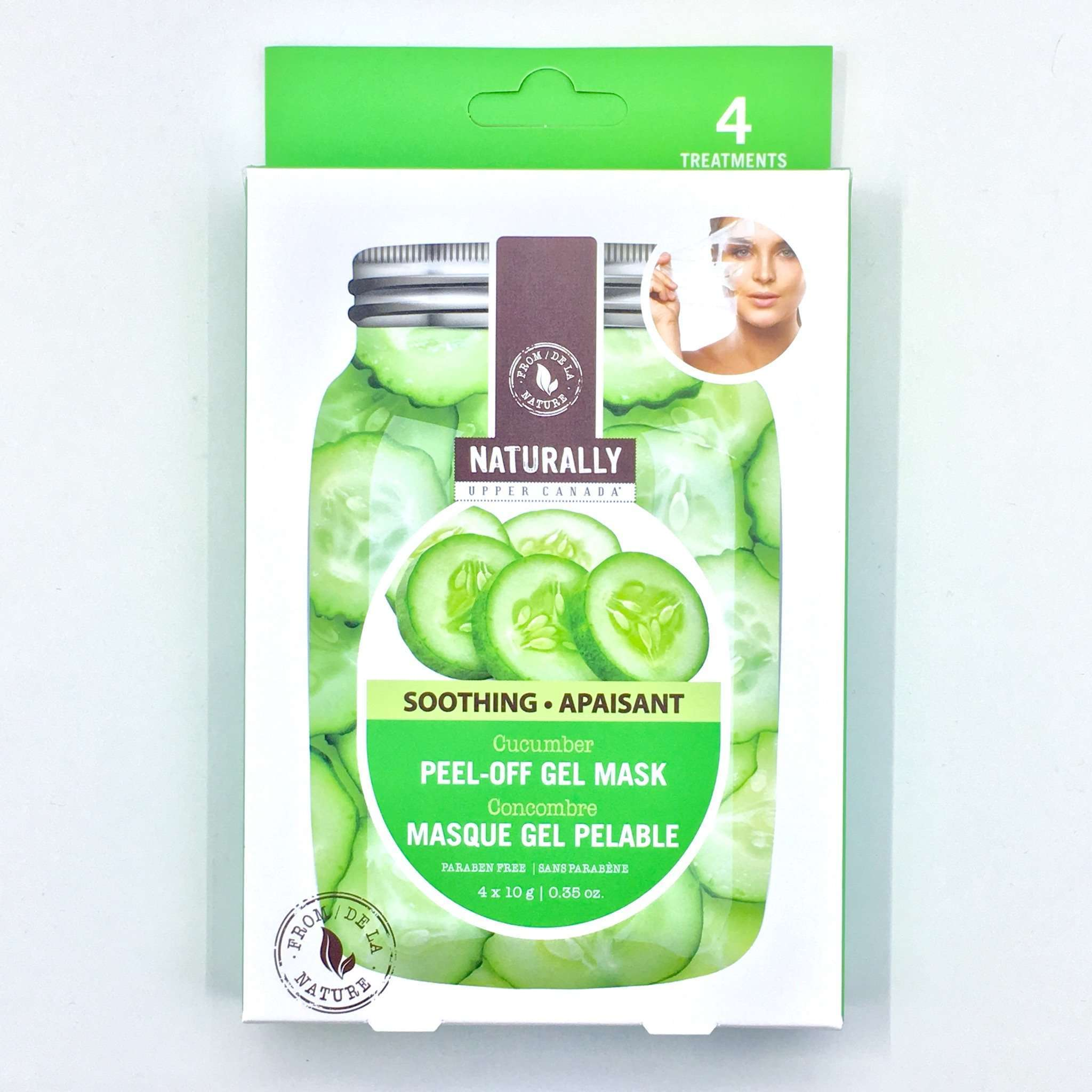 NATURALLY UPPER CANADA PEEL OFF MASK CUCUMBER, HEALTH AND BEAUTY, Styles For Home Garden & Living, Styles For Home Garden & Living