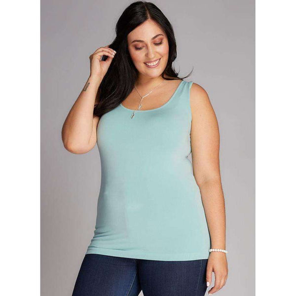 C'EST MOI BAMBOO PLUS SIZE TANK - SEA FOAM, WOMENS, Styles For Home Garden & Living, Styles For Home Garden & Living