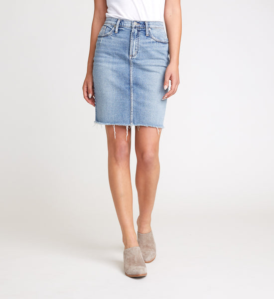 SILVER JEANS FRISCO PENCIL JEAN SKIRT