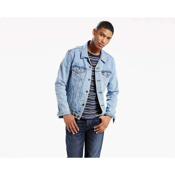 LEVIS TRUCKER JACKET LIGHT STONE WASH, MENS, Styles For Home Garden & Living, Styles For Home Garden & Living