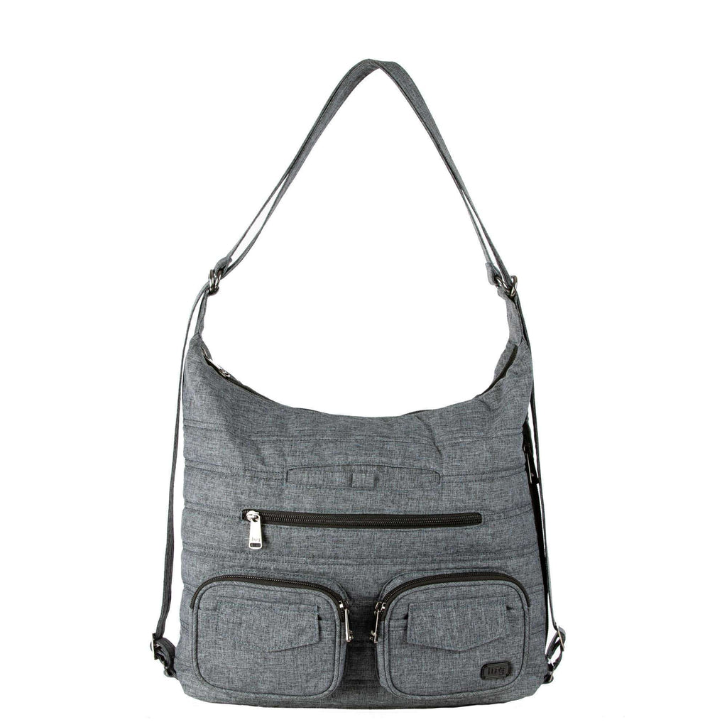 LUG ZIPLINER CROSSBODY TOTE HEATHER GREY, ACCESSORIES, Styles For Home Garden & Living, Styles For Home Garden & Living