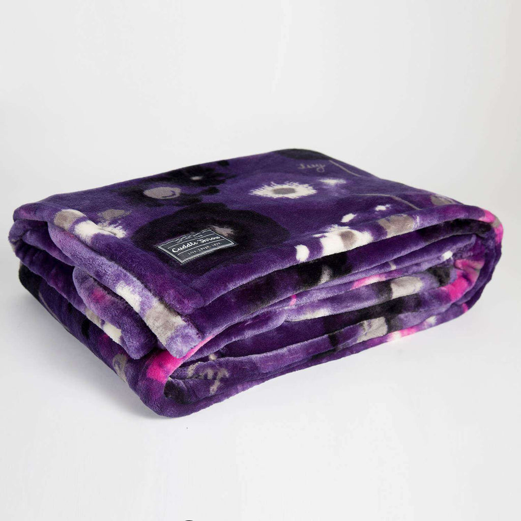 LUG CUDDLE THROW WATER PURPLE, ACCESSORIES, Styles For Home Garden & Living, Styles For Home Garden & Living