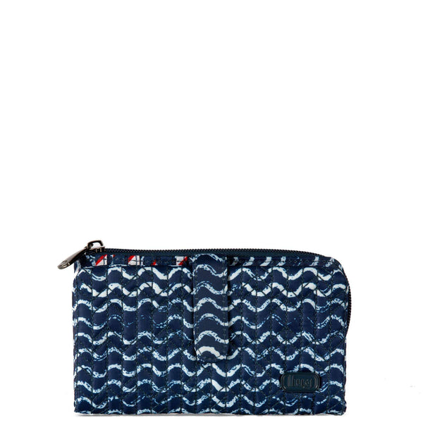 LUG TRAM WALLET WAVES NAVY, ACCESSORIES, Styles For Home Garden & Living, Styles For Home Garden and Living