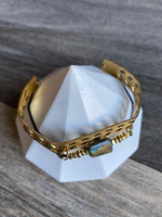 KR JEWELRY DESIGNS BRACELET W/LABRADROIT SQ CHEVRON