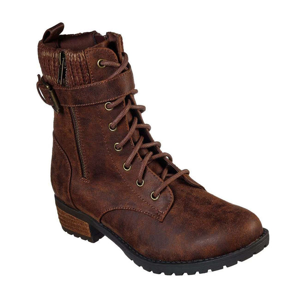 SKECHERS SHOES DOME STAY BOLD BOOT - BROWN, WOMS, Styles For Home Garden & Living, Styles For Home Garden & Living