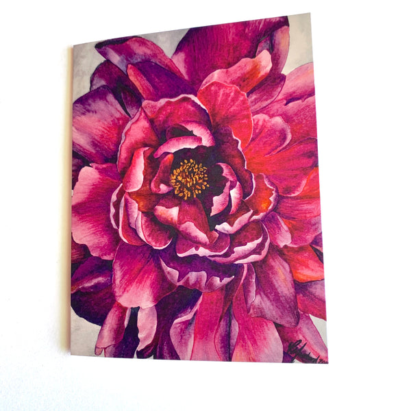CHYLISSE MARCHAND CARD PINK FLOWER