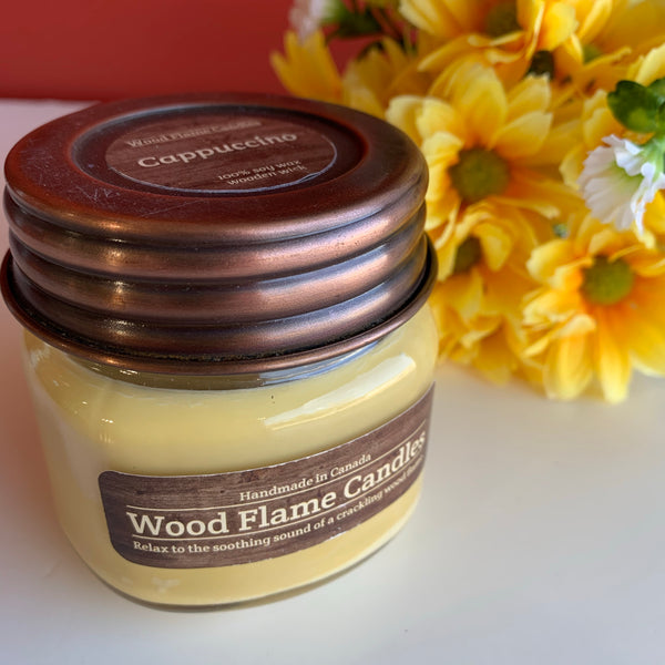 WOOD FLAME CANDLES CAPPUCCINO 6 OZ