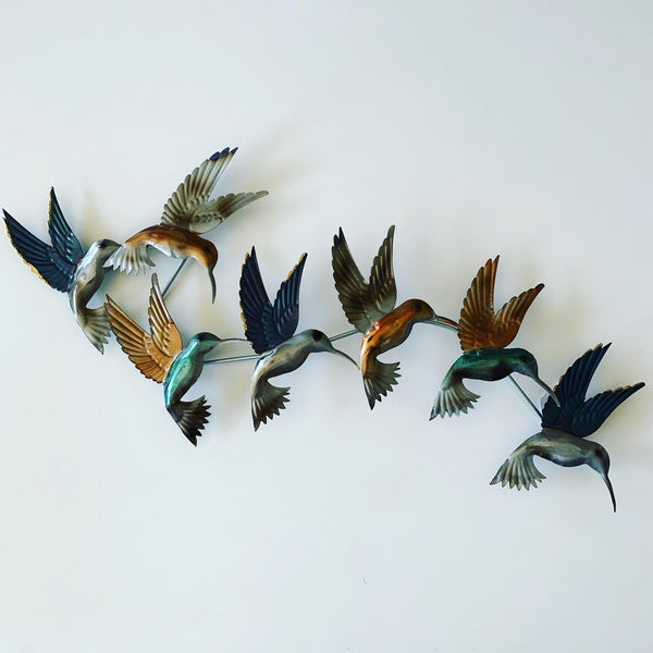 METAL WALL ART FLOCK OF BIRDS
