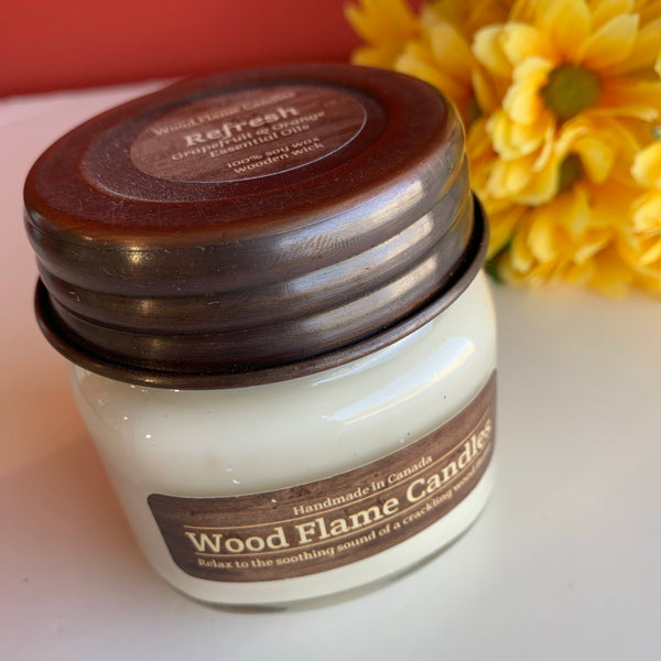 WOOD FLAME CANDLES REFRESH 6OZ