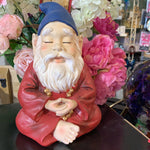 HI LINE GARDEN GNOME IN MEDITATION
