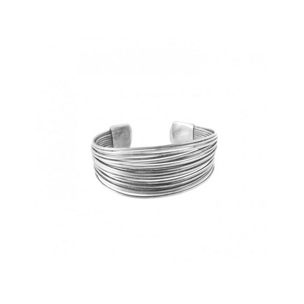 CARACOL SILVER MULTI WIRE ADJUSTABLE BRACELET, ACCESSORIES, Styles For Home Garden & Living, Styles For Home Garden & Living