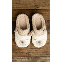 LEMON BERBER BEAR SLIPPERS IN CREAM, WOMS, Styles For Home Garden & Living, Styles For Home Garden & Living