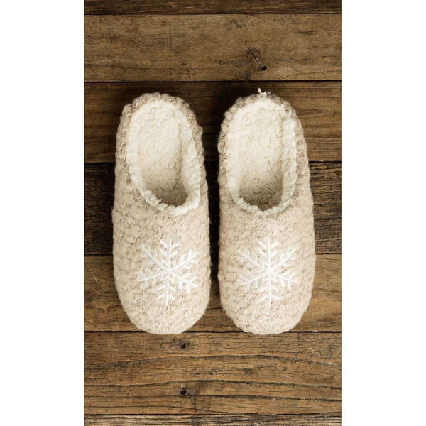 LEMON BOUCLE SNOWFLAKE SCUFF SLIPPERS - MOONBEAM, WOMS, Styles For Home Garden & Living, Styles For Home Garden and Living