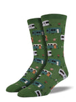 SOCKSMITH MEN'S SOCKS CAMPTOWN GREEN