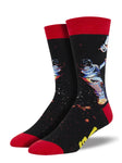 SOCKSMITH MEN'S SOCKS LOST IN SPACE BLACK