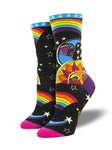 SOCKSMITH LADIES SOCKS CELESTIAL JOY-BLACK