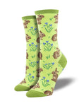SOCKSMITH WOMEN'SSOCKS RELAXED RABBIT GREEN