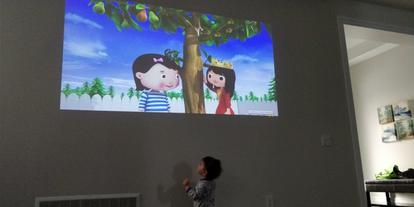 HEXA Projector screen time toddlers