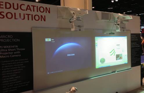Trade show booth ideas HEXA Eclipse projector