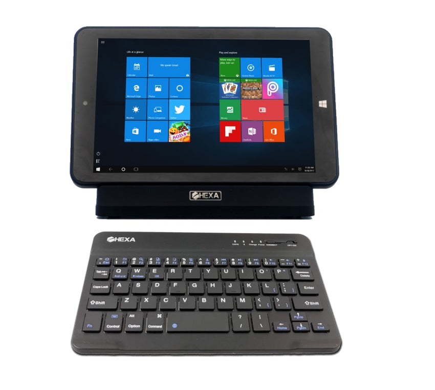 Bluetooth® Ultra-Slim Keyboard for Digital Key Tablets | Cover Included