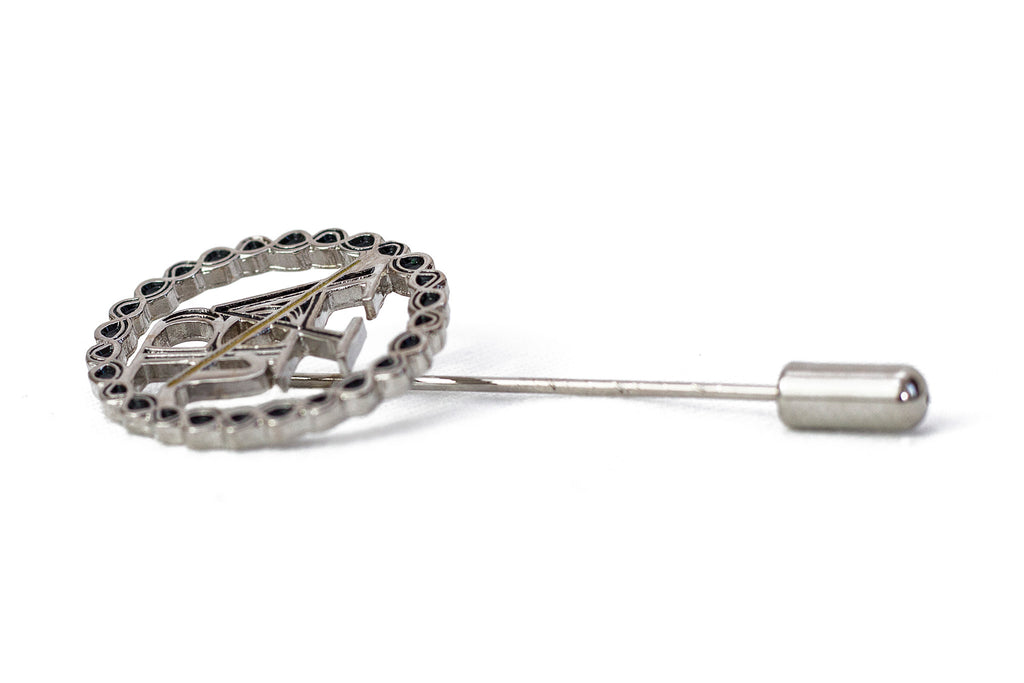 Silver Metal Lapel Pin