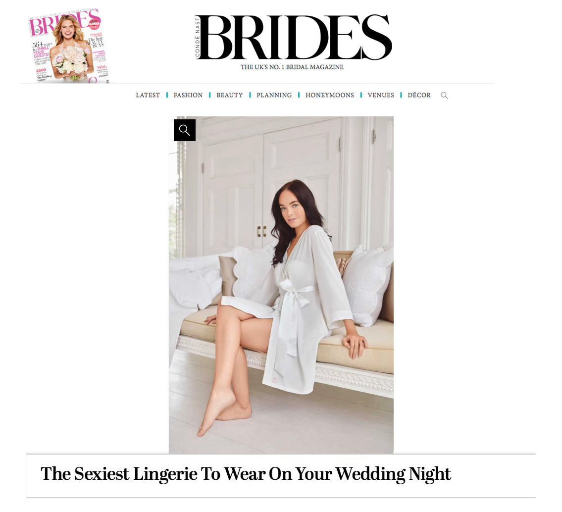 white luxury bridal robe georgina keeley featured in brides magazine