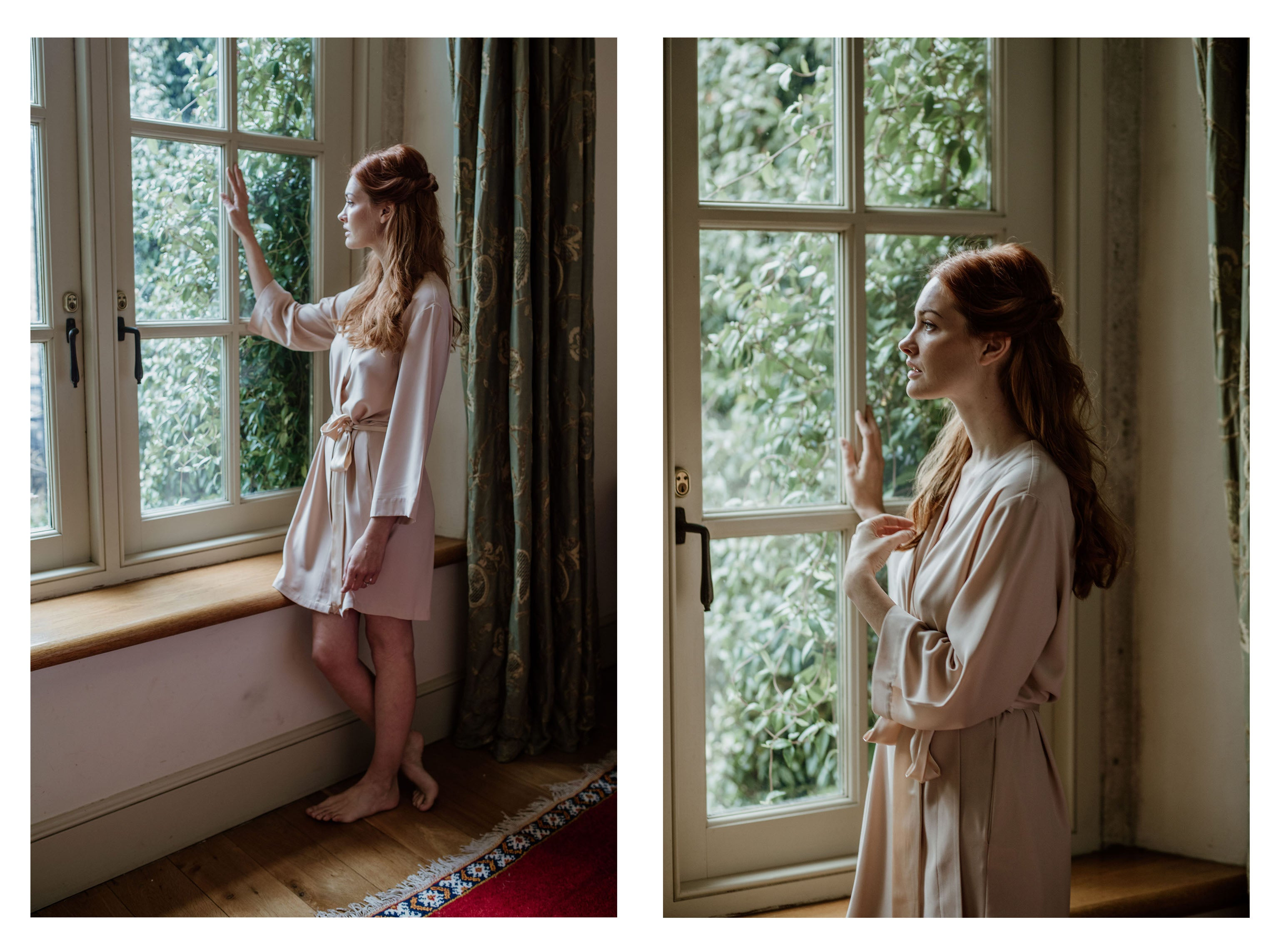 nude luxury robe by Georgina Keeley