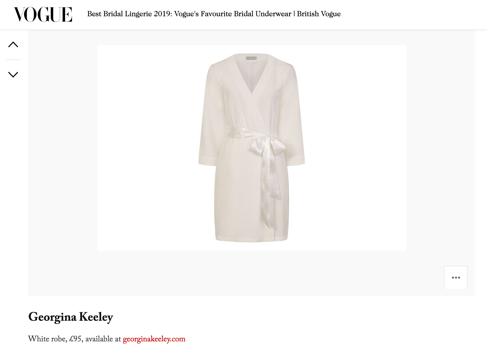 vogue lingerie feature georgina keeley bridal robe
