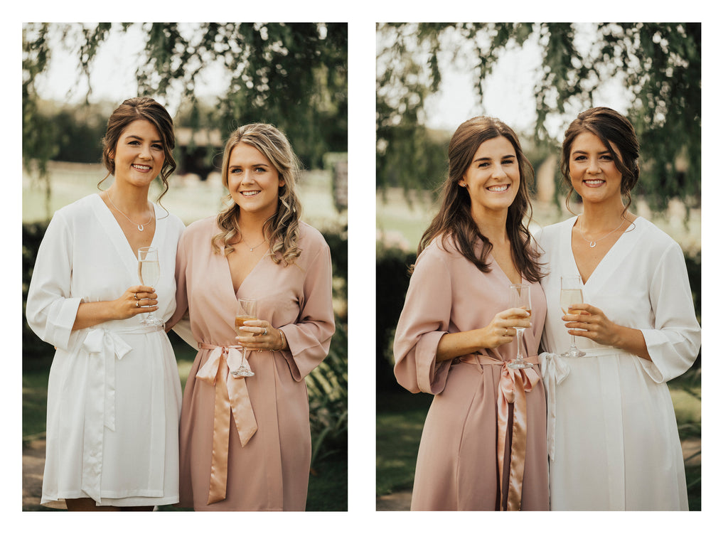 bride-bridesmaid wedding robes
