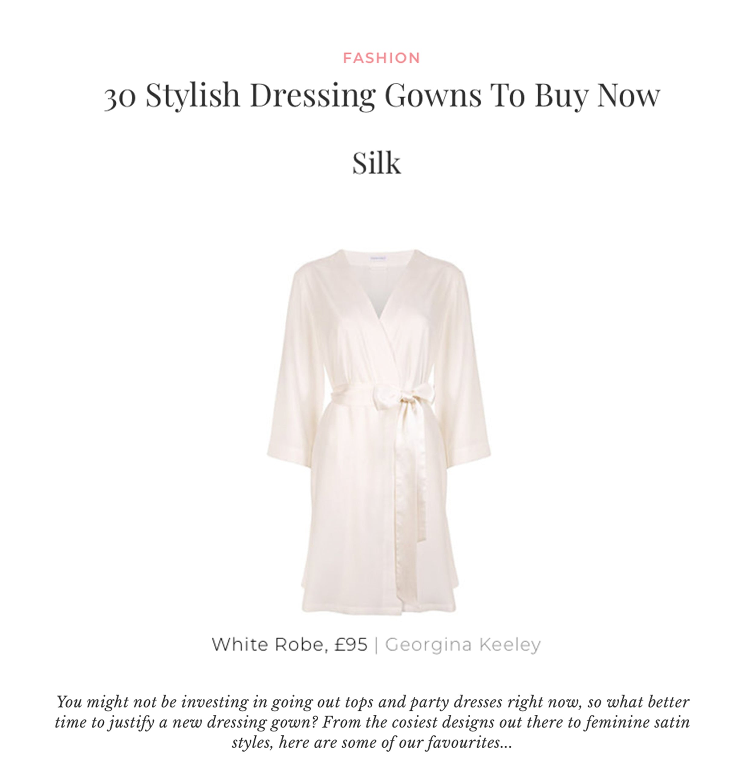 luxury white robe georgina keeley on sheerluxe