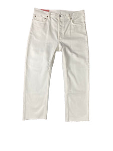Acne x Blå Konst Land White Cropped Denim