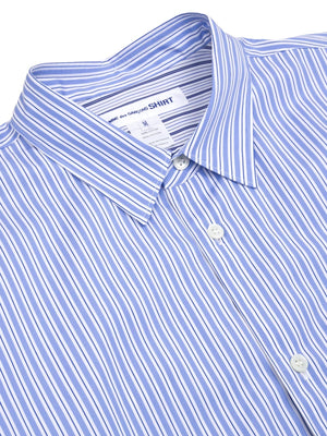 Comme Des Garcon Striped Layered Shirt