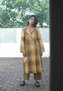 TONED OLIVE TRENCH COAT