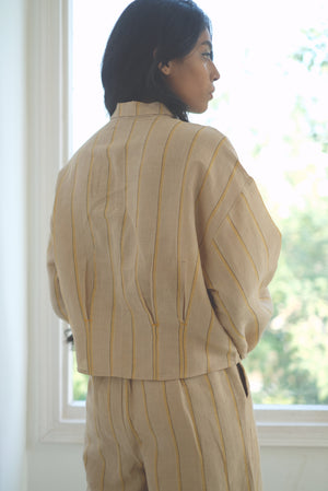 DESERT STONE WAIST PLEATED SHIRT